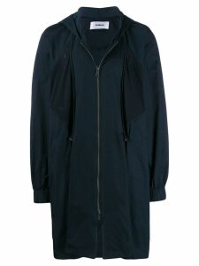 Chalayan hooded coat - Blue