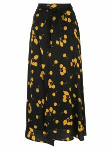 3.1 Phillip Lim Printed Cerise Skirt - Black