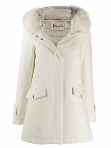 Herno hooded padded jacket - White