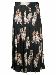 MSGM printed pleated skirt - Black
