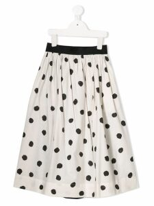 Caffe' D'orzo spotted skirt - White
