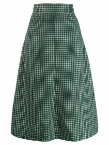 Cédric Charlier plaid print skirt - Green