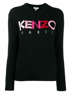 Kenzo ombré logo embroidered sweater - Black