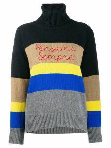 Giada Benincasa striped logo sweatshirt - Blue