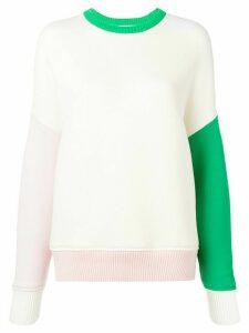 Thom Browne Oversized Crew Fun Mix Sweatshirt - White