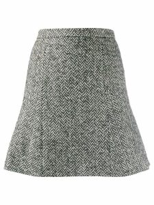 Red Valentino herringbone tweed skirt - Grey
