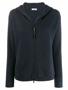 Brunello Cucinelli zip-up cashmere cardigan - Blue