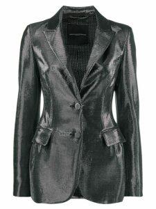 Ermanno Scervino metallic blazer - Silver