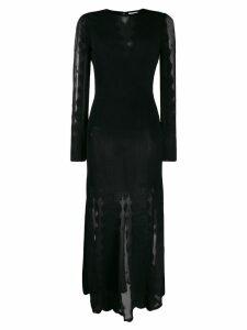 Alexander McQueen sheer panels midi dress - Black