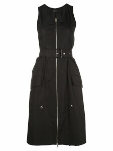Derek Lam Belted Organic Cotton Tank Dress with Topstitch Detail -