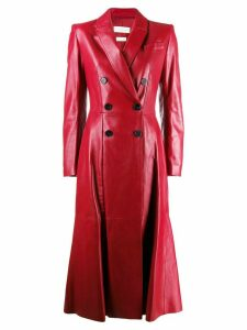 Alexander McQueen double-breasted trench coat - Red