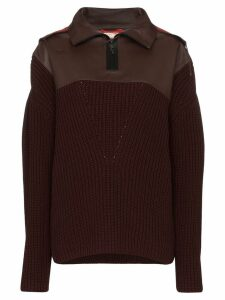 Bottega Veneta contrast hood jumper - Red