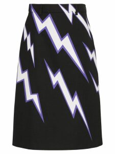 Prada lighting bolt print skirt - Multicolour