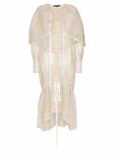 Susan Fang organza check coat - Pink
