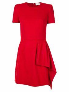 Alexander McQueen drape detail mini dress - Red