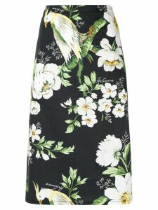 Carolina Herrera floral pencil skirt - Black