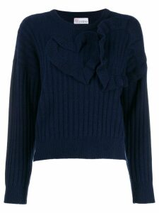 Red Valentino heart detailed jumper - Blue