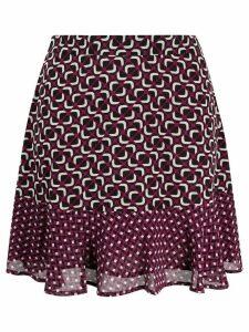 Michael Michael Kors geo print mini skirt - Pink