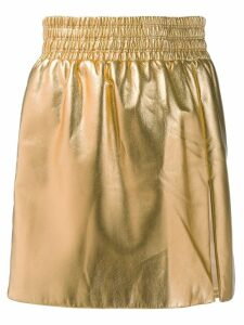 Miu Miu metallic effect skirt - Gold