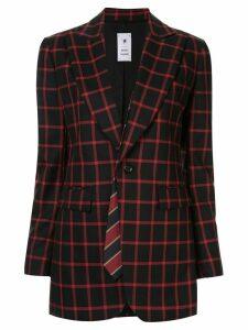 Maison Mihara Yasuhiro classic check blazer - Black