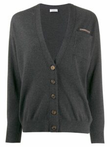 Brunello Cucinelli classic slim-fit cardigan - Grey