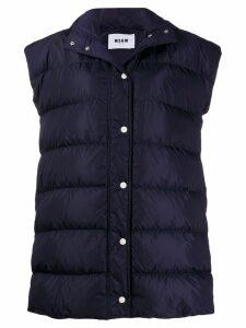 MSGM padded hooded vest - Blue