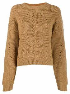 Alberta Ferretti slouchy round neck sweater - Neutrals