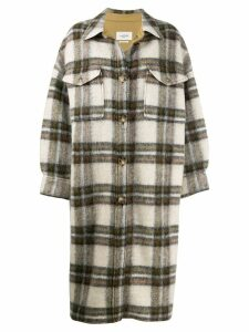 Isabel Marant Étoile Gabrion blanket coat - Green