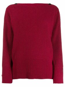 Calvin Klein ribbed knit jumper - Red