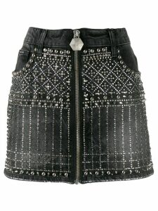Philipp Plein Gothic denim skirt - Black