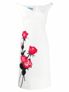 Prada rose print dress - White
