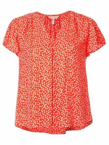 Rebecca Taylor all-over print blouse - ORANGE