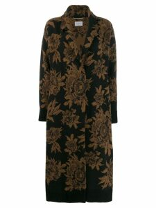 Salvatore Ferragamo floral coat - Brown