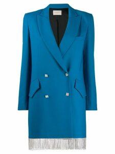 Giuseppe Di Morabito crystal fringe blazer - Blue