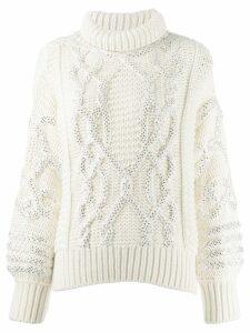 Ermanno Scervino cable-knit jumper - White