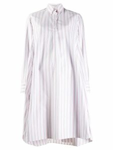 Thom Browne striped shirt dress - White