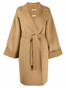 P.A.R.O.S.H. knit trench coat - Brown