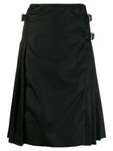Prada Gabardine A-line midi skirt - Black