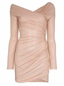 Alexandre Vauthier off-the-shoulder mini dress - Pink