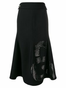 Victoria Beckham sequin panel skirt - Black
