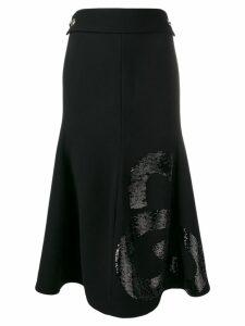 Victoria Beckham sequin panel skirt - Black