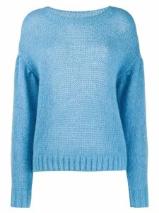 Closed dropped shoulder sweater - Blue