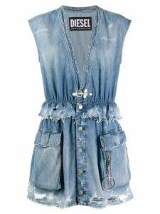 Diesel sleeveless denim mini dress - Blue