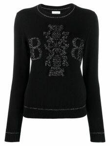 Barrie cashmere glitter jumper - Black