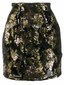 Iro contrast sequin mini-skirt - Black