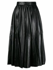 MSGM mid-length pleated skirt - Black