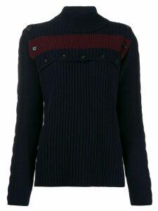 Marni buttoned stripe detail jumper - Blue