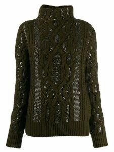 Ermanno Scervino cable-knit jumper - Green