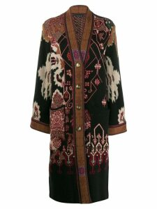 Etro printed cardi coat - Black