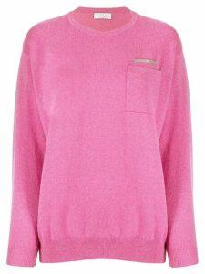 Brunello Cucinelli metal bead cashmere sweater - Pink